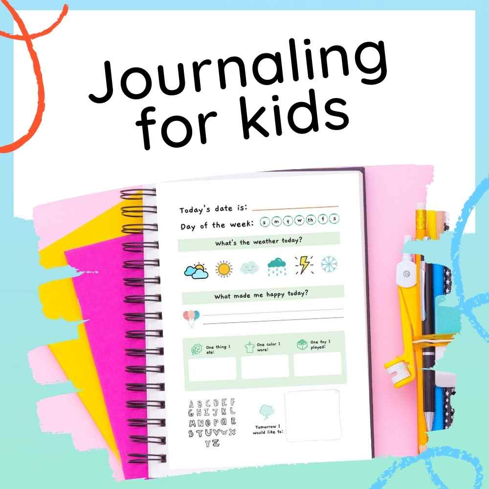 Journaling for Kids - printouts feature image