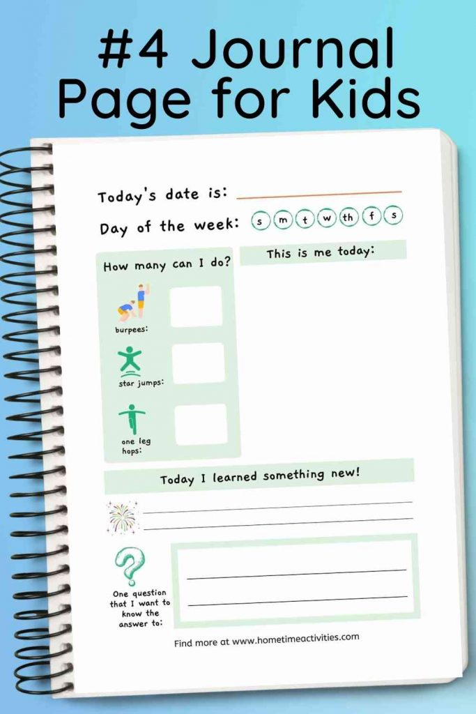 Journaling For Kids - Printable journal page