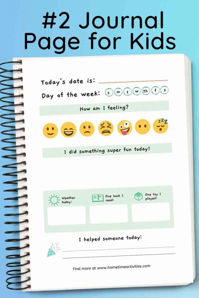 Printable Journal Page for Kids