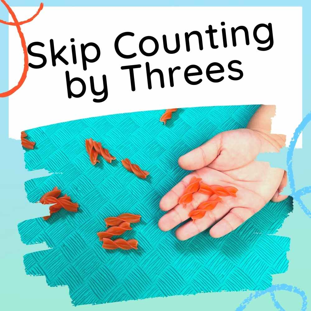 Skip Counting by Threes - Activities for Kids - Feature image with text