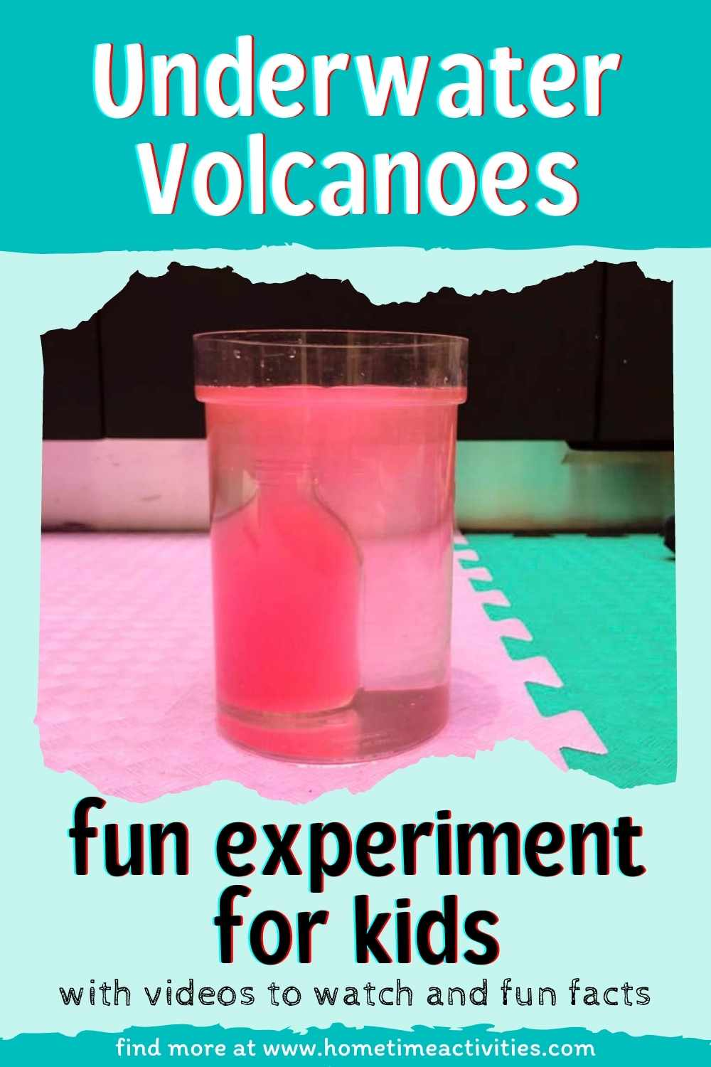 Underwater Volcano Experiment for Kids - picture of the fun science experiment