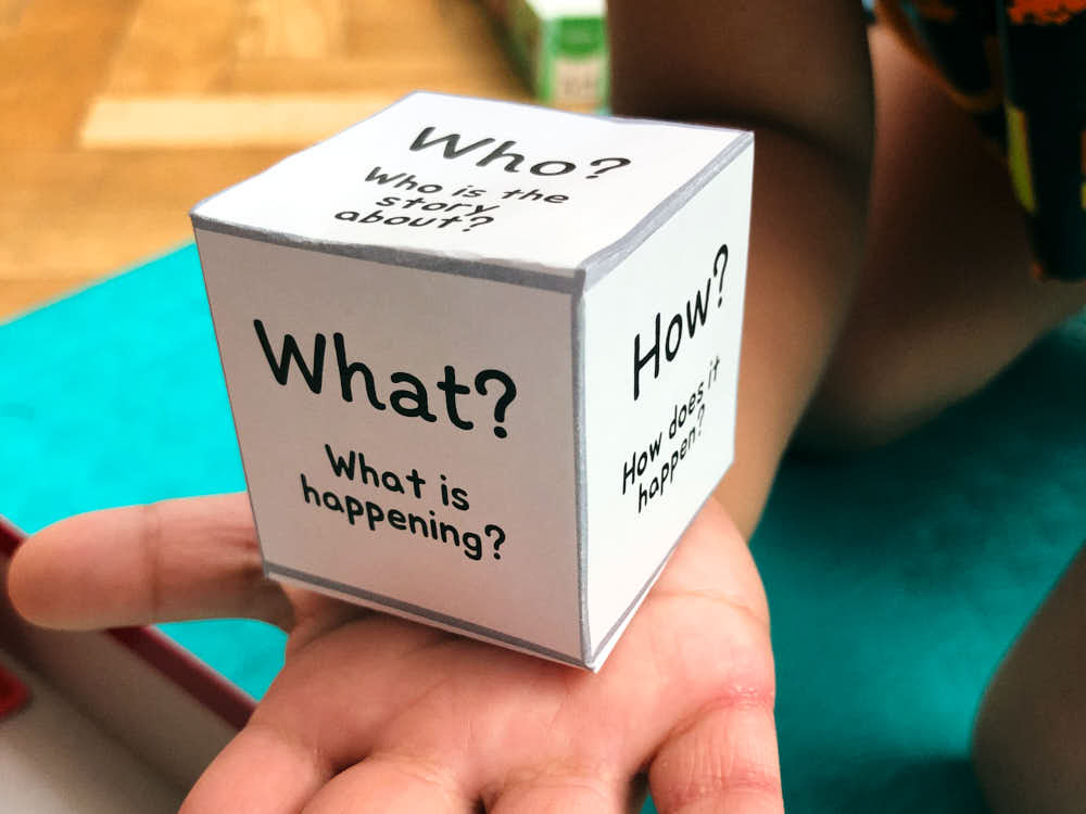 The Five Ws activity craft to make a dice for kids
