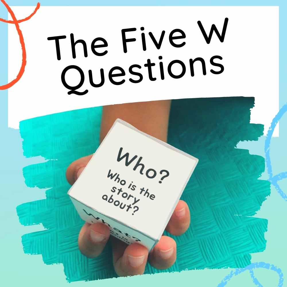 The Five Questions - Activities For Kids - Feature image with text