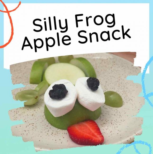 Silly Frog Theme Apple Snack for Kids - Feature