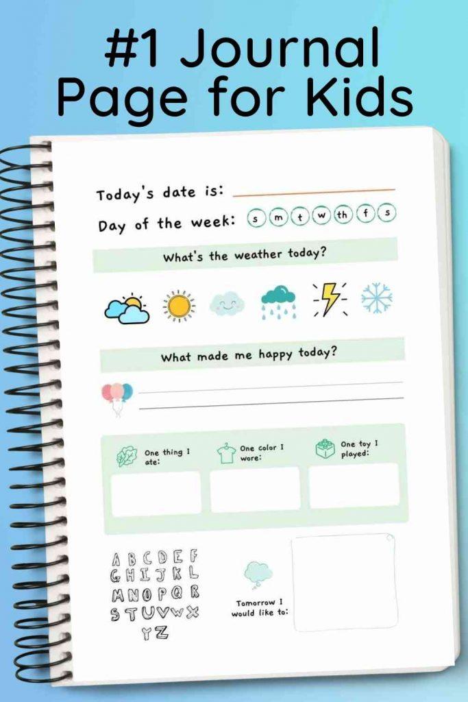 Journal Page for Kids - printable