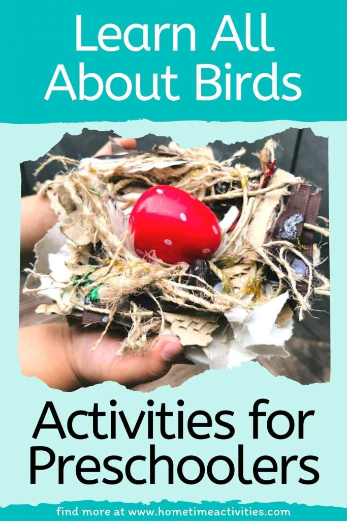 Learn about birds - resources and activities for preschoolers - text image
