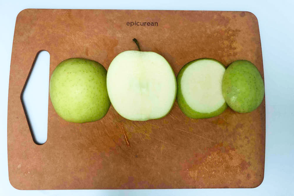 How to cut apples for this insect shaped snack idea