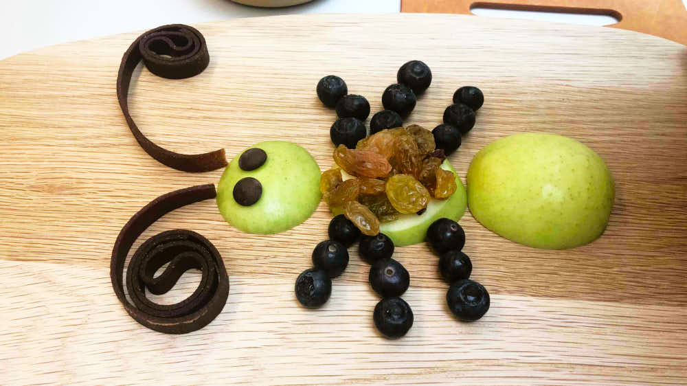 Insect themed food idea - final image showing the snack