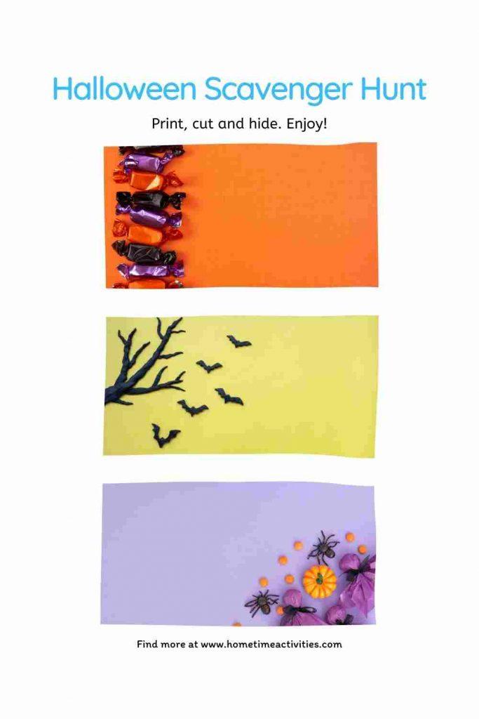 Printable Halloween Scavenger Hunt Clues for Kids - blank template