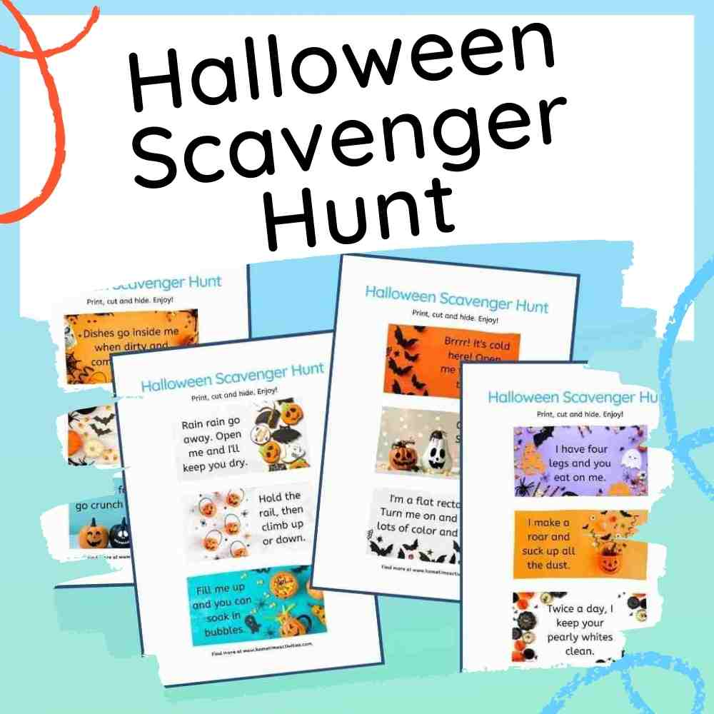 Halloween Scavenger Hunt Kids Ideas - Free Printables - Feature Image